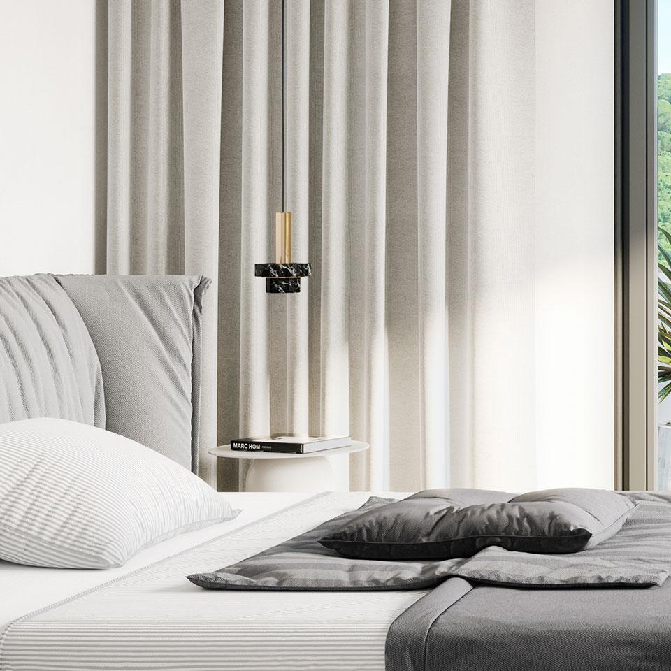 Empreendimento Miraflores Park   quarto cama