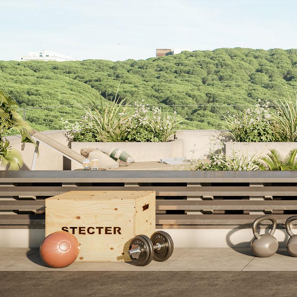Empreendimento Miraflores Park   rooftop fitness