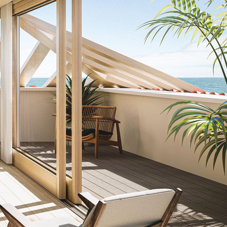 Empreendimento Villa Unika | quarto - varanda