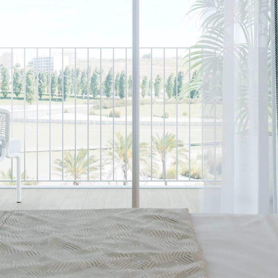 Empreendimento Panorama Altear | Quarto varanda